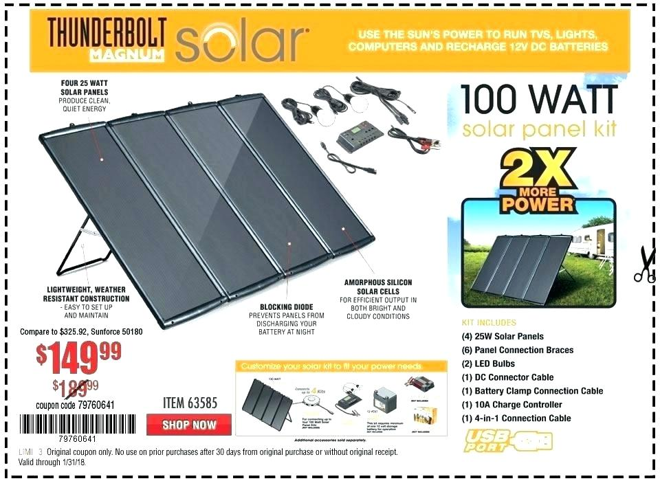 Review Harbor Freight 100 Watt Solar Kit Review Nomadic Lifestyle Magazine
